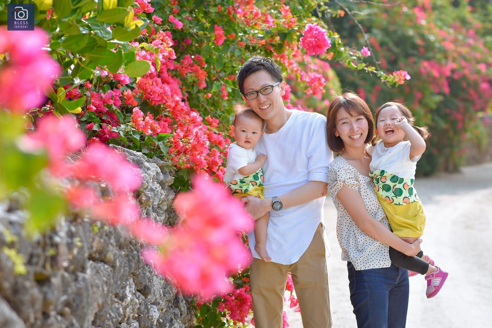 【お客様レポ#6】竹富島の街並み&コンドイビーチで家族フォト!Y&R様ファミリー♡