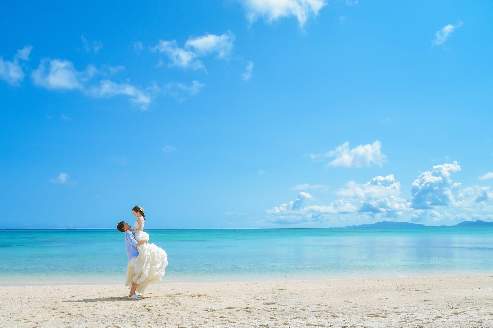 【レポ#15】R&H様はレンタルドレスご利用でビーチフォト