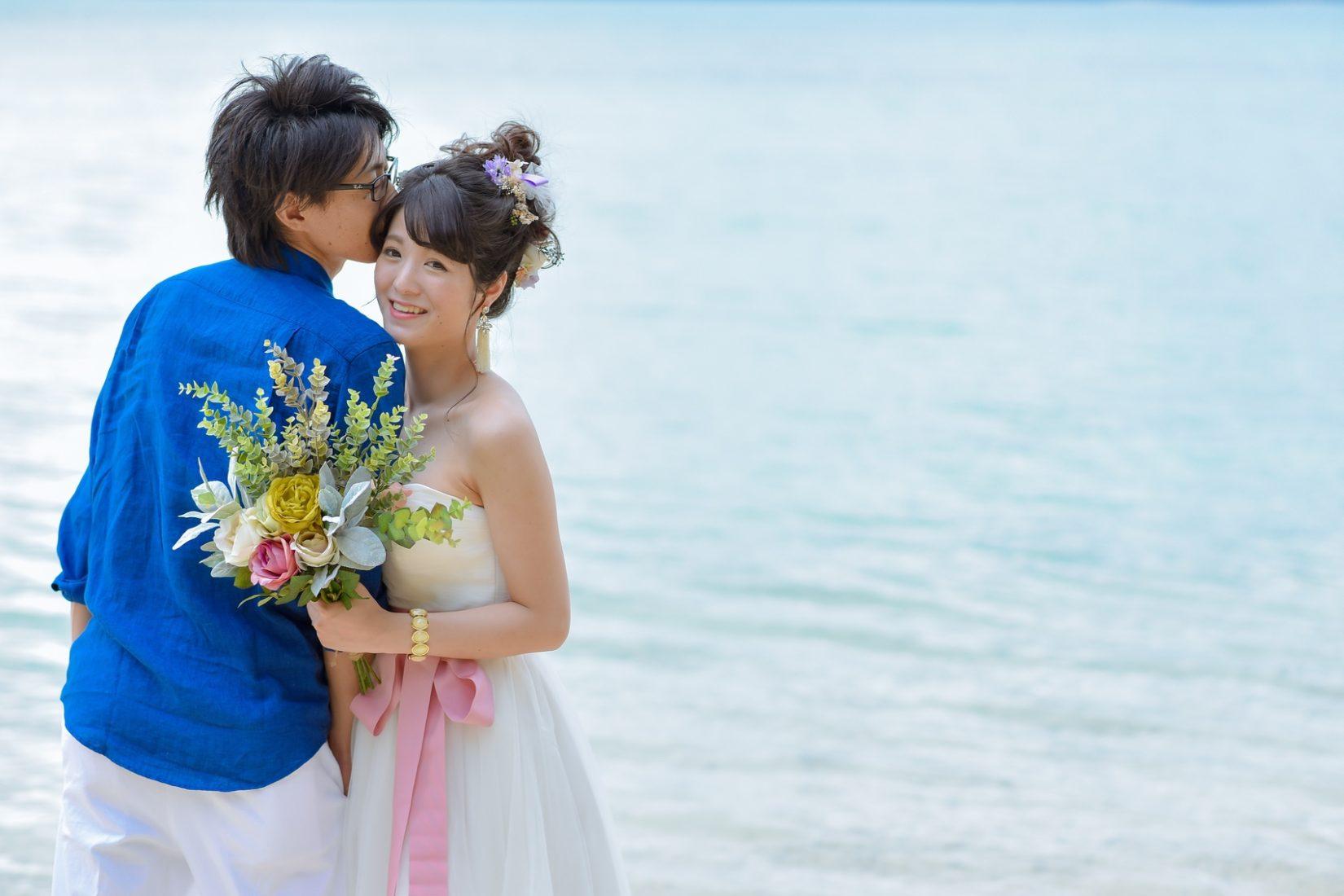 【レポ#18】ミモレ丈ドレスで後撮り♡Y様&R様の結婚写真