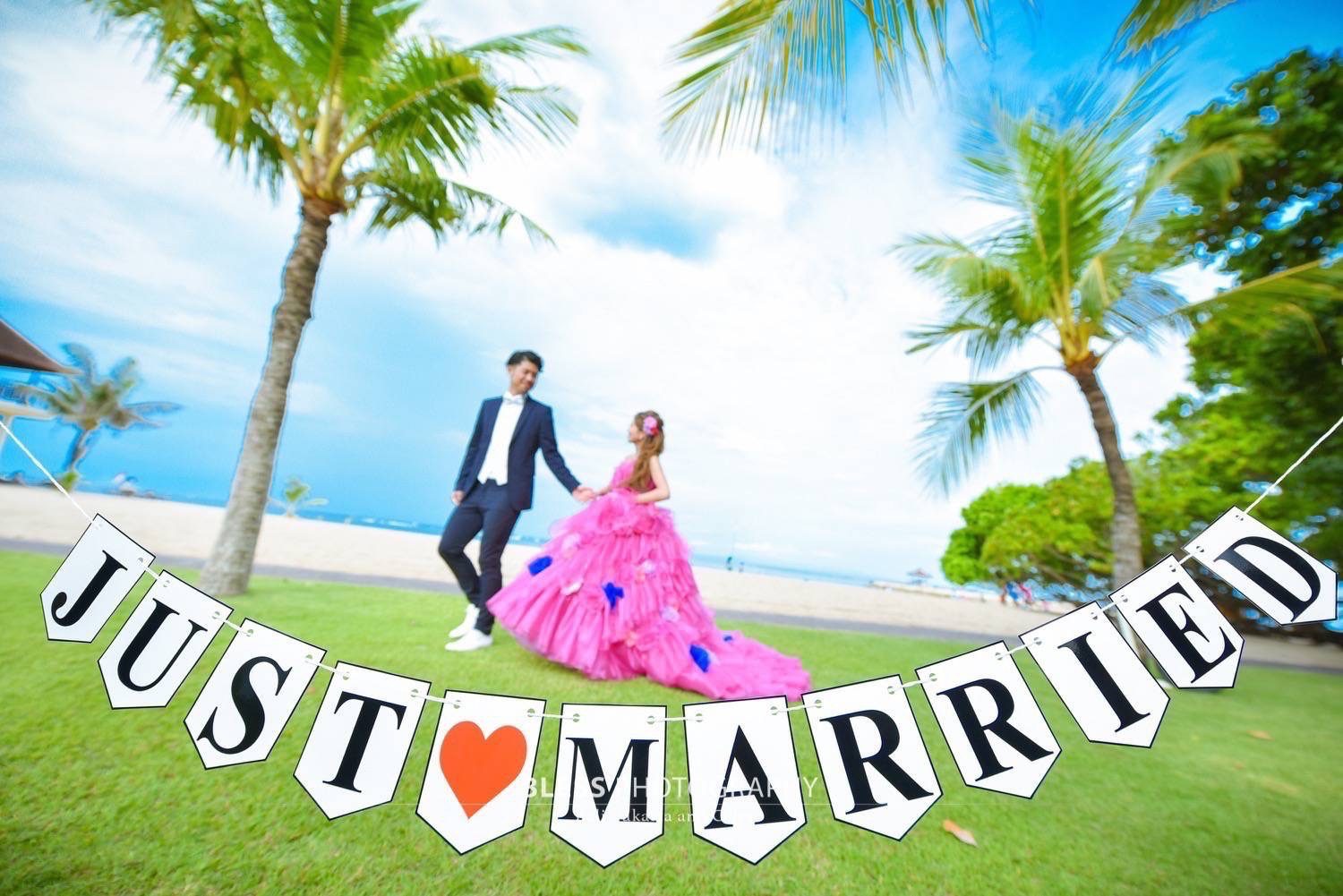 「JUST♡MARRIED」のガーランド