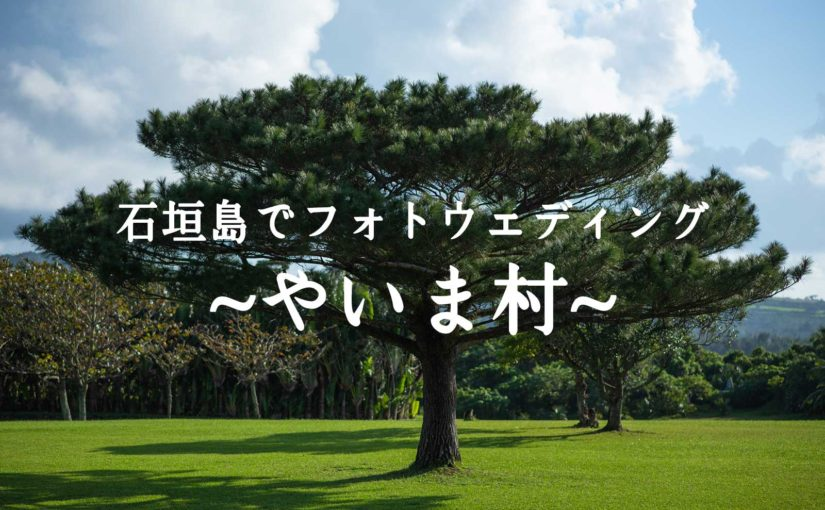 石垣島でフォトウェディング・やいま村をロケハン! -Prewedding at Yaima village-