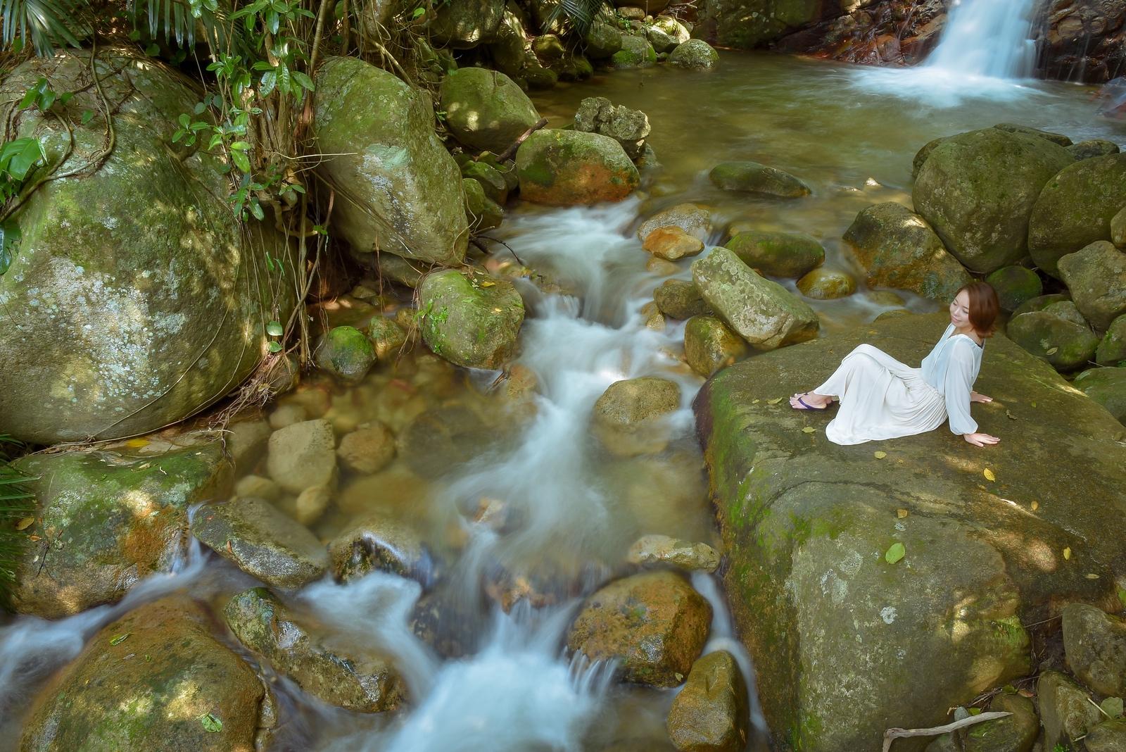 ロケハン!石垣島唯一の滝「荒川の滝」でポートレート撮影