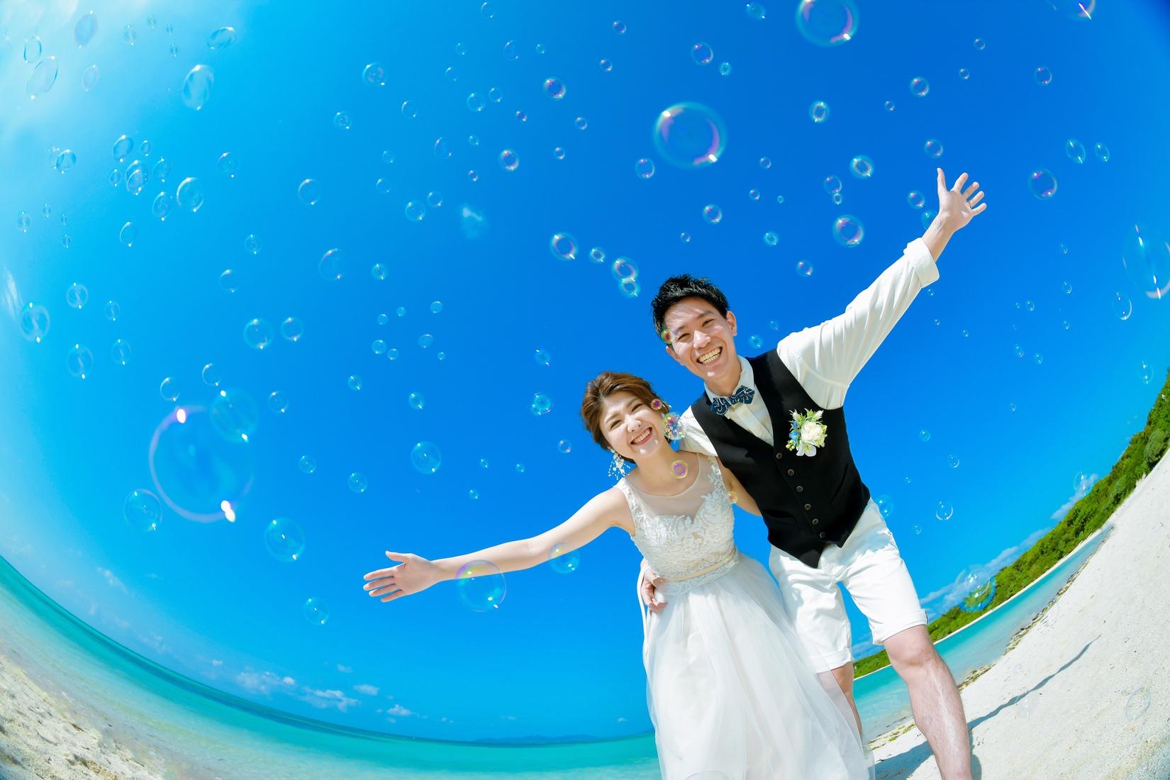 【お客様レポ#7】石垣在住のH&S様は竹富島+サンセットで1日フォトウェディング♡