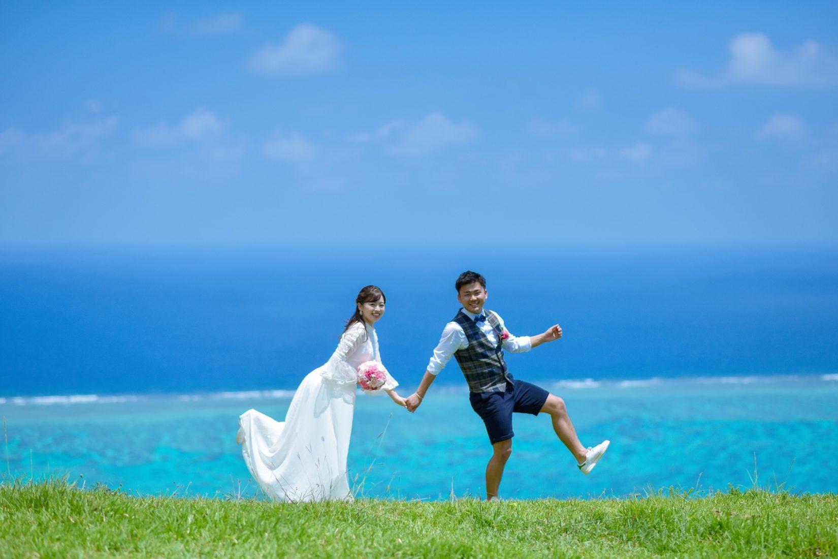 【レポ#22】R&S様は挙式前の前撮りでビーチ&絶景スポット巡り♡