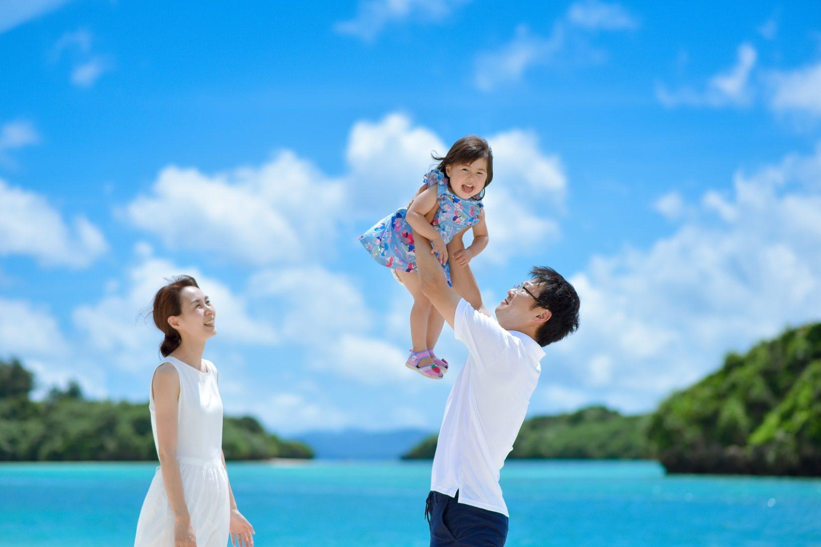 【レポ#24】結婚式をあげた石垣島で♡ R様&Y様&Tちゃんの家族フォト @川平湾