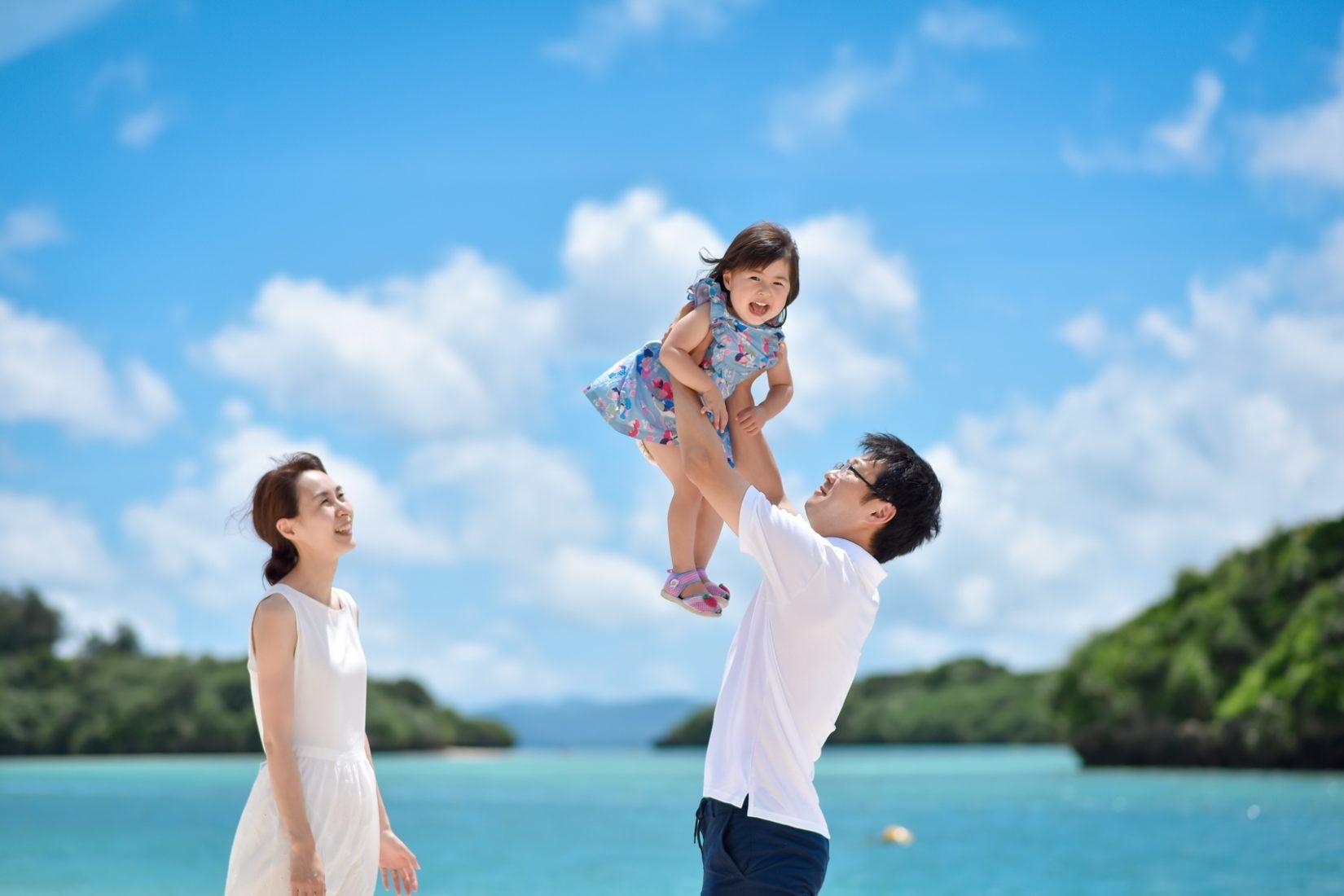 石垣島で家族写真