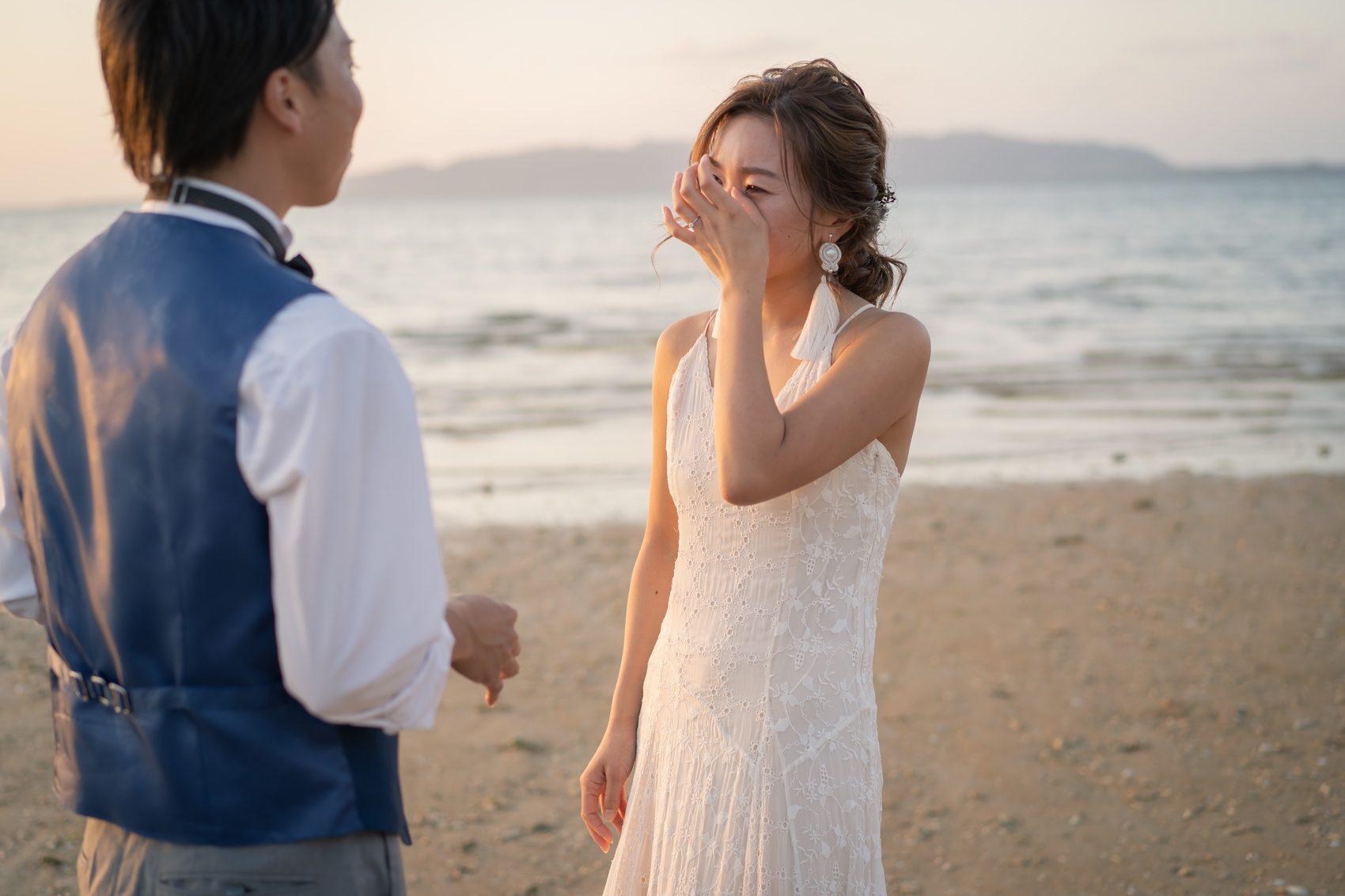 嬉し涙の花嫁様