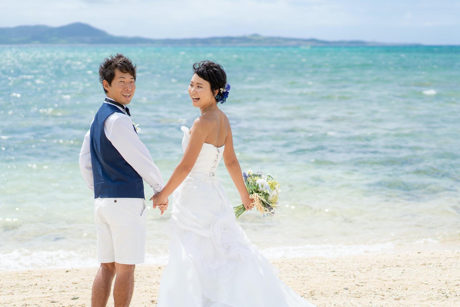 【レポ#45】結婚式の前撮りとして♡ Y&M様のビーチフォト