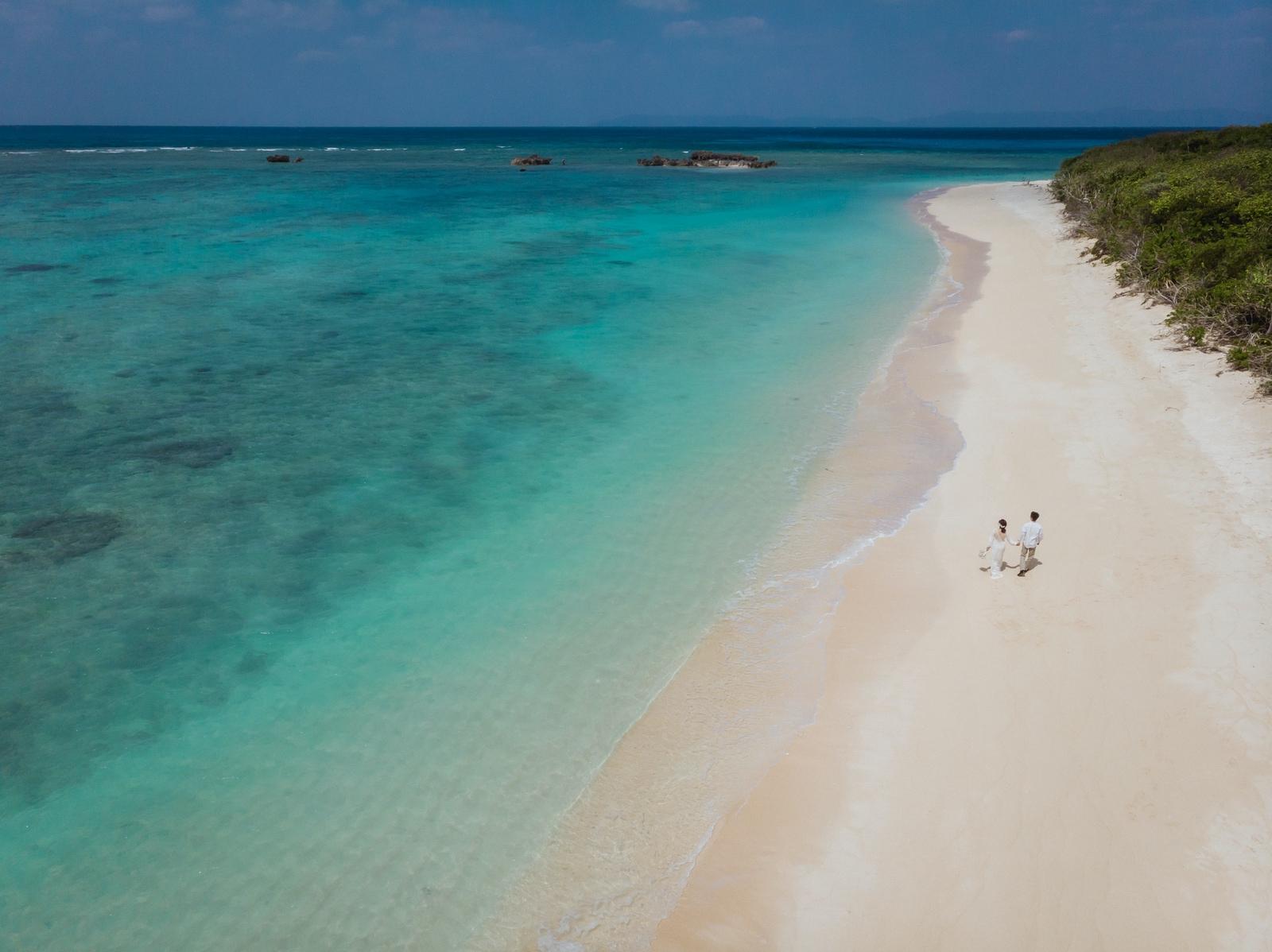 波照間島でドローン空撮