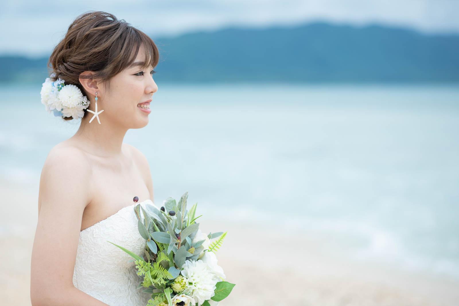 花嫁様のシニョンスタイル