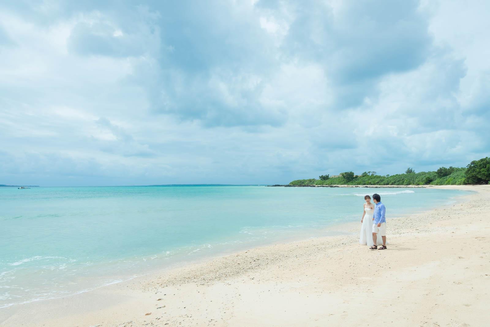 崎枝のビーチ