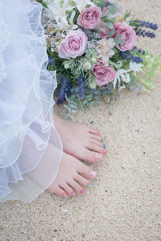 花嫁様のペディキュア