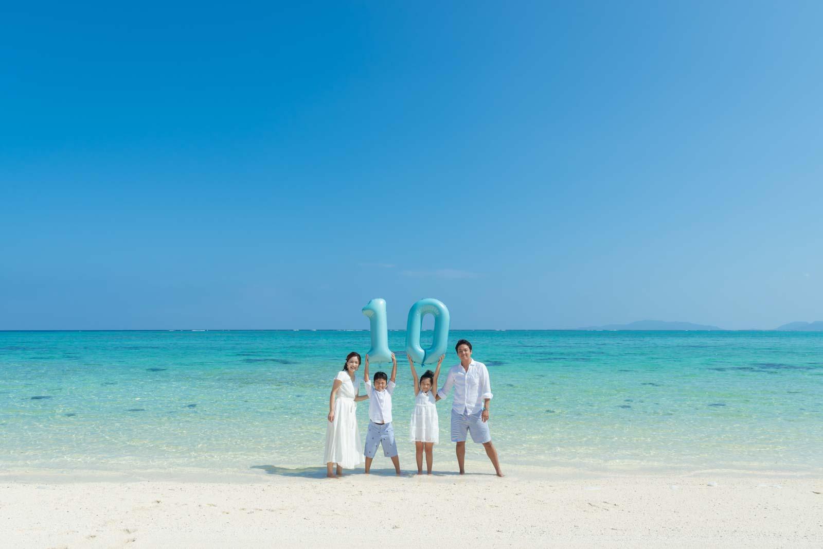 結婚10年目の記念撮影