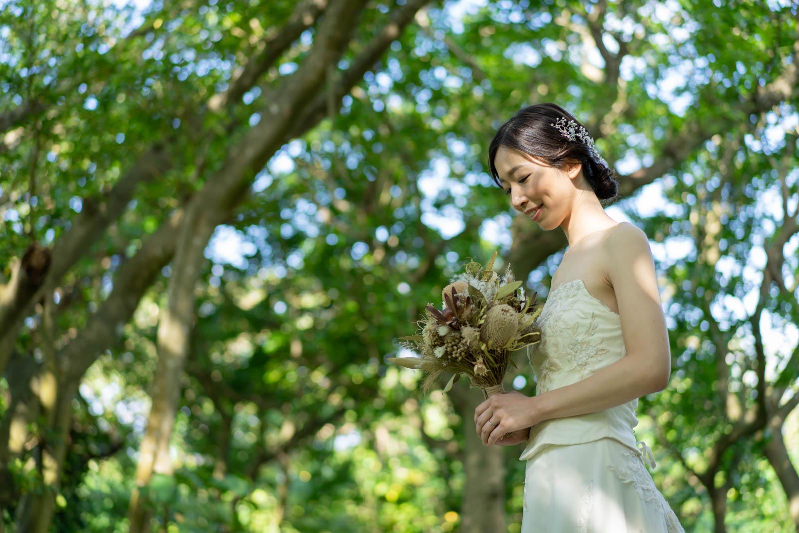 花嫁様のヘアスタイルはシニヨン