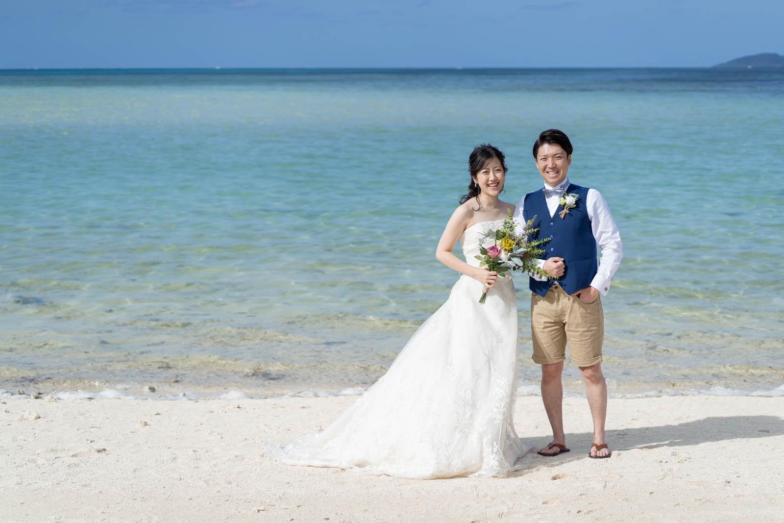 コンドイビーチで結婚写真