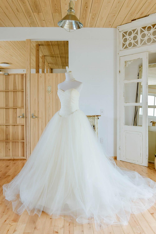 ハートカット プリンセスドレス