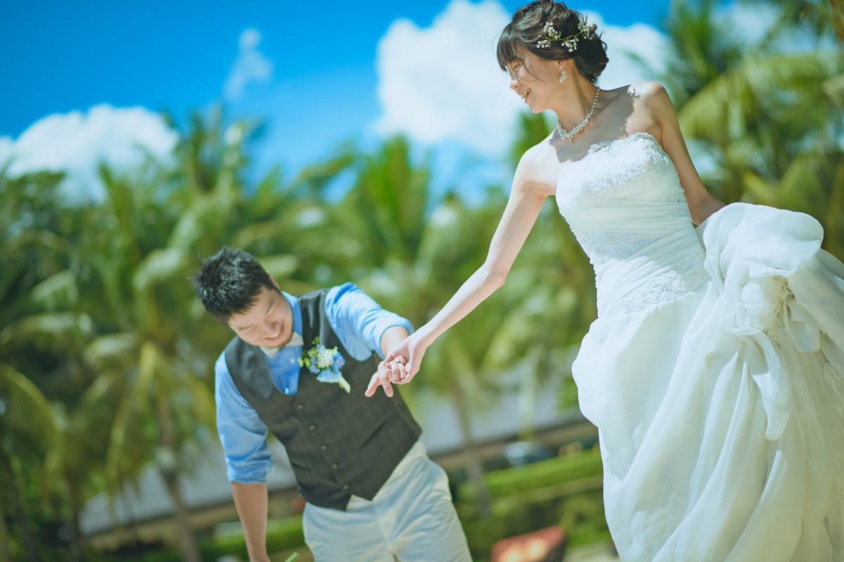 花嫁がエスコート